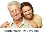 happy father and daughter... | Shutterstock . vector #217499488