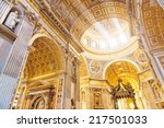interior of the st. peter... | Shutterstock . vector #217501033