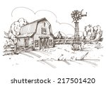 hand drawn illustration of... | Shutterstock .eps vector #217501420