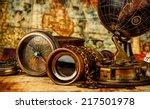 vintage grunge still life.... | Shutterstock . vector #217501978