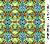 seamless geometry vintage... | Shutterstock . vector #217504480