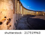 Small photo of Columns in Ancient Ruins in the ancient city of Jerash - Jordan 20.01.2014