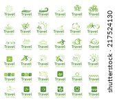 travel icons set   isolated on... | Shutterstock .eps vector #217524130