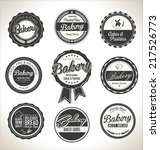 bakery retro labels collection | Shutterstock .eps vector #217526773