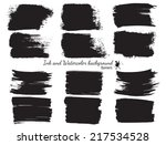 collection of ink banners | Shutterstock .eps vector #217534528