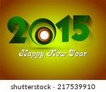 happy new year 2015 creative... | Shutterstock .eps vector #217539910