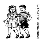 retro children   clipart...