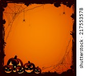 grunge halloween background... | Shutterstock . vector #217553578