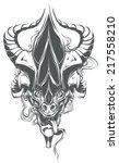 demon head   Shutterstock .eps vector #217558210