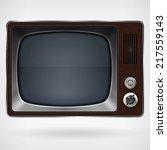 vintage tv   tv speaker and... | Shutterstock . vector #217559143