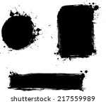set of three black grunge... | Shutterstock .eps vector #217559989