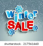 winter sale inscription with... | Shutterstock .eps vector #217561660