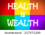 health is wealth concept text