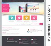flat colorful website template...