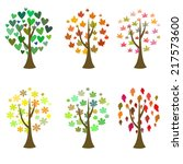 original tree icons. vector set | Shutterstock .eps vector #217573600