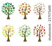 original tree icons. vector set | Shutterstock .eps vector #217573600