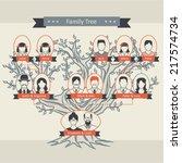 family tree | Shutterstock .eps vector #217574734