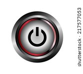 power off icon button  | Shutterstock . vector #217577053