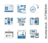 flat icons set of marketing...
