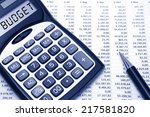 Budget Concept Budget Text On...