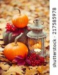 Arrangement With Pumpkins And...