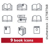 book icons  vector set | Shutterstock .eps vector #217587568