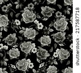 seamless floral pattern with ... | Shutterstock . vector #217587718