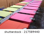 prepare colorful t shirt on... | Shutterstock . vector #217589440
