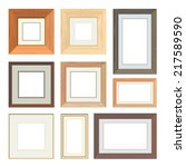 set of vector wooden frames | Shutterstock .eps vector #217589590