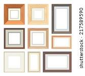 set of vector wooden frames | Shutterstock .eps vector #217589590