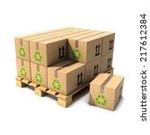 3d render of cardboard boxes on ... | Shutterstock . vector #217612384