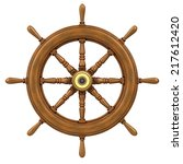 3d Render Of A Ships Wheel