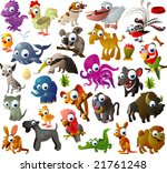 big vector animal set | Shutterstock .eps vector #21761248