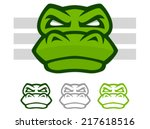 illustration of a mean looking... | Shutterstock .eps vector #217618516