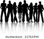 crowd of people | Shutterstock .eps vector #21761944