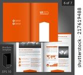 orange vector brochure template ... | Shutterstock .eps vector #217619488