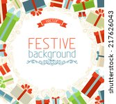 christmas background. gift... | Shutterstock .eps vector #217626043