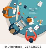business meeting and... | Shutterstock .eps vector #217626373
