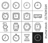clock and watch icons....   Shutterstock .eps vector #217634164