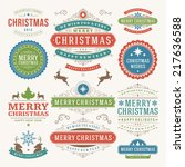 christmas decoration vector... | Shutterstock .eps vector #217636588