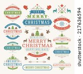 christmas decoration vector... | Shutterstock .eps vector #217636594