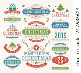 christmas decoration vector... | Shutterstock .eps vector #217636624