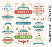 christmas decoration vector... | Shutterstock .eps vector #217636630