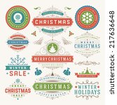 christmas decoration vector... | Shutterstock .eps vector #217636648