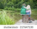 Two Little Child Hug Each Othe...