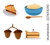 a set of thanksgiving related... | Shutterstock .eps vector #217653250