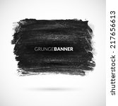 black watercolor ink banner... | Shutterstock .eps vector #217656613