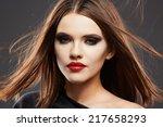 hair style model studio... | Shutterstock . vector #217658293