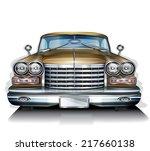 retro car | Shutterstock .eps vector #217660138
