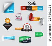 collection of sale discount... | Shutterstock .eps vector #217661116